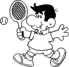 Primary Tennis Clipart Black And White 47 About Remodel Clipart