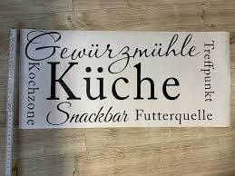 küchen deko sticker schriftzug