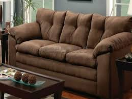 Stylish Luna Chocolate Microfiber Sofa And Loveseat Set 6565 For Couch Plans 15