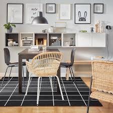 svallerup teppich flach gewebt drinnen drau schwarz weiß