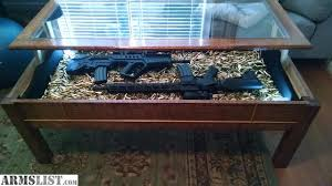 Outstanding Armslist For Saletrade Display Case Coffee Table Hand Built Within Modern
