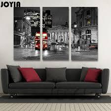 Modern UK City Night Wall Painting Living Room Decor Black White London Canvas Art