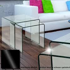 glastisch 2tlg ausziehbar wohnzimmer esszimmer küche glas schwarz tisch beistelltisch bhp alana b154076 4