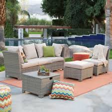 Coral Coast South Isle All Weather Wicker Natural Outdoor Conversation Set