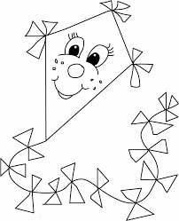 Kite Free Coloring Pages On Art