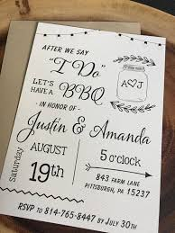 After We Say I DO Wedding BBQ Elopement Announcement Post Reception Invitation Kraft Paper White Felt Calligraphy