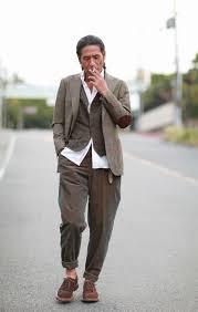 Jacket Pants Shirt Mitsuru Strano Vest Original Vintage Style Shoes Brunello