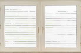 dekorfolie horizontale transparent weiße streifen breite 45 mm