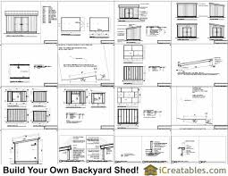 10x14 lean to shed plans icreatables com