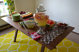 I Was Mostly In Charge Of The Food Table And Enjoyed Coming Up With Drinks Strawberry Lemonade Chia Seed Limeade Rosemary
