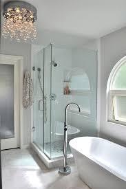 Modern Chandelier Over Bathtub by Best 25 Crystal Bathroom Lighting Ideas On Pinterest Bathroom