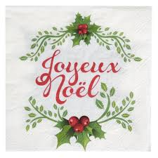 serviette de noel en papier serviettes de table joyeux noël papier les 20 baiskadreams