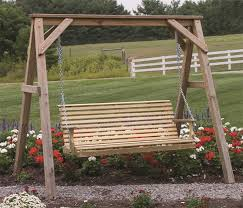 LuxCraft Wood Rollback Porch Swing by Dutchcrafters Amish Furniture