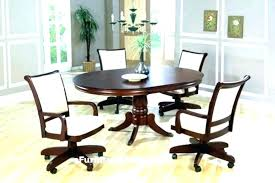 Fascinating Rolling Dining Chair Dining Chair Rolling Swivel Dining