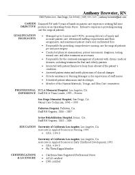 Registered Nurse Resume Sample