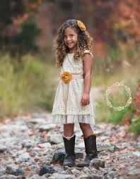 Lace Rustic Flower Girl Dress Champagne Lace Dresses Flower Girl