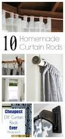 Decorative Traverse Curtain Rods by Best 25 Homemade Curtain Rods Ideas On Pinterest Homemade