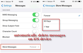 How to delete saved messages and texts on iOS