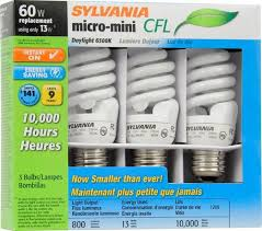 sylvania皰 13w daylight twist compact fluorescent light bulbs 3