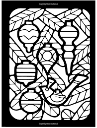 Amazon Merry Christmas Stained Glass Coloring Book Holiday