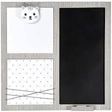 kreidetafel tafel memoboard küche memo wand deko mit klammern für bilder memo und notizen grau weiß holz wandtafel katze motiv home deko für küchen