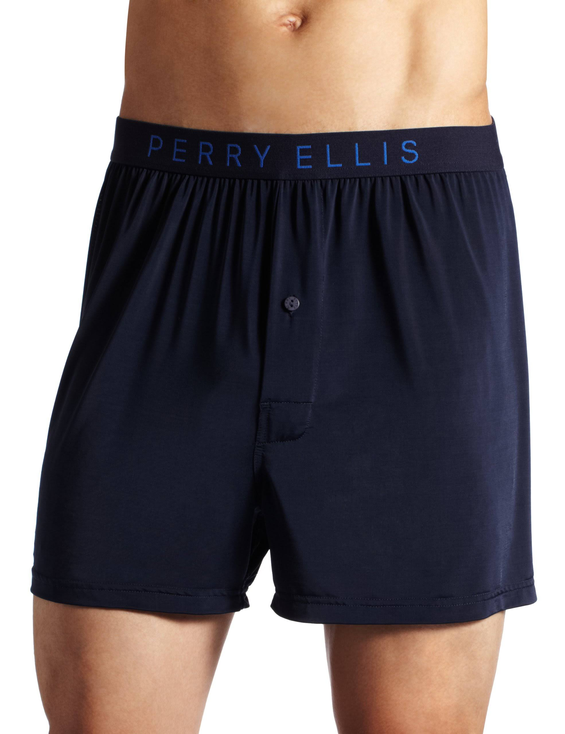 Perry Ellis Men's Luxe Solid Boxer