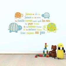 stikers chambre bebe sticker mural comptine tortues motif bébé garçon pour chambre