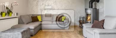 fototapete schönes wohnzimmer in grau