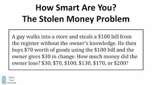 The Stolen Bill Riddle Viral Math Problem