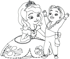 Sofia Coloring Pages New Princess Sophia Page