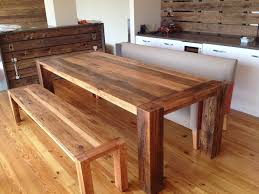 Wooden Kitchen Table Bench Inside Houses Warm And Welcoming