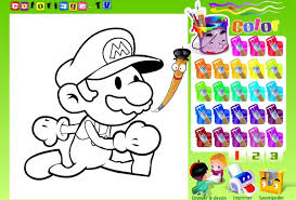 Super Mario Coloring Game Arcade Online Info