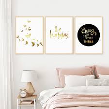 3er set design poster no 41 30x40 cm golddruck typographie spruch schmetterlinge photolini bilderrahmen fotowände poster und geschenke