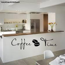 kaffee zeit englisch cafe küche wand motto abnehmbare vinyl aufkleber einrichtungs dekorative malerei wandaufkleber