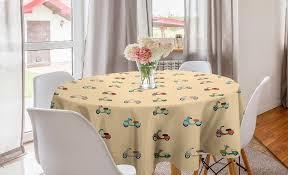 abakuhaus tischdecke kreis tischdecke abdeckung für esszimmer küche dekoration städtisch retro roller kaufen otto