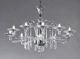 Crystal Clear Modern Murano Chandelier DML6012K10