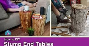 rustic stump end tables hometalk
