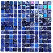 blau glasmosaik fliese für badezimmer und küchenwände habay bleu
