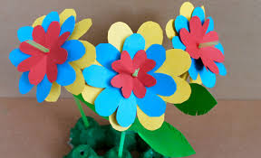 Easy Paper Craft How To Make Flowers