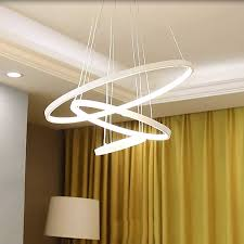 40 60 80 100 cm ringe moderne led deckenleuchten für wohnzimmer esszimmer küche glanz führte hängende decken le beleuchtung leuchten