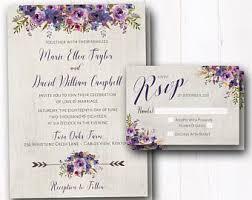 Burgundy Wedding Invitation Rustic Fall Invites