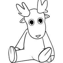 Comet And Rudolph Cute Dasher Reindeer Coloring Page