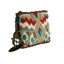 mary frances turquoise power coin purse