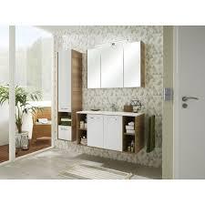 badezimmer hochschrank hängend weiß glanz und riviera eiche