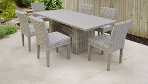 Coast Rectangular Outdoor Patio Dining Table With 6 Armless ... Wicker Ding Room Chairs Sale House Room Marq 5 Piece Set In Brick Brown With By Mfix Fniture Durham Outdoor 7 Acacia Wood Christopher Knight Home Invite Friends And Family To Your Outdoor Ding Space Round Kitchen Table With It Would Be Nice If Solid Bermuda Pc Side Model 1421set1 South Sea Rattan A Synthetic Rattan Outdoor Ding Table And Six Chairs 4 High Back 18 Months Old Lincoln Lincolnshire Gumtree Amazoncom Direct Pieces Allweather Sahara 10 Seat Teak Top Kai Setting