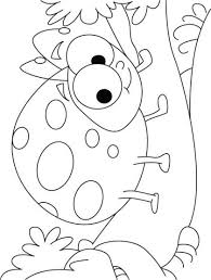 Ladybug Coloring Pages Smiling