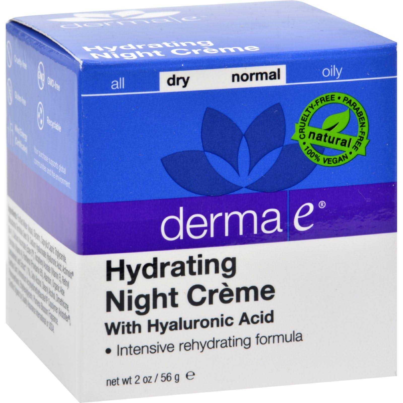 Derma E Hydrating Night Crème with Hyaluronic Acid - 2oz