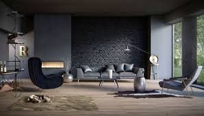 100 Brick Walls In Homes 10 Splendid Living Rooms With Black Wall For Dramatic Ambience