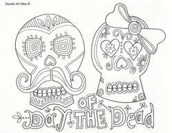 Free Printable Day Of The Dead Coloring Pages At Celebration Doodles From Doodle Art Alley