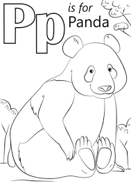Click To See Printable Version Of P Is For Panda Coloring Page